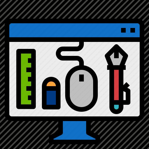 computer, design, graphic icon