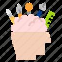 brainstorm, graphic, idea icon