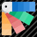 colors, design, graphic, pantone icon