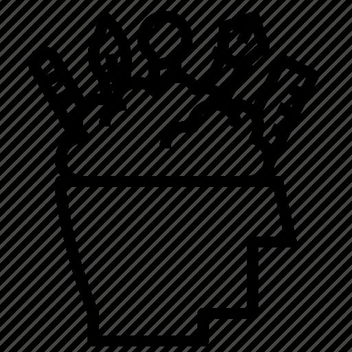 brainstorm, design, graphic, idea icon