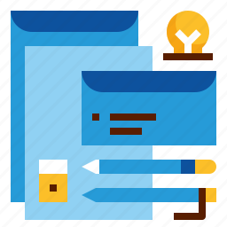 envelope, paper, stationery, tools icon