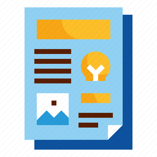 design, layout, page, template, word icon