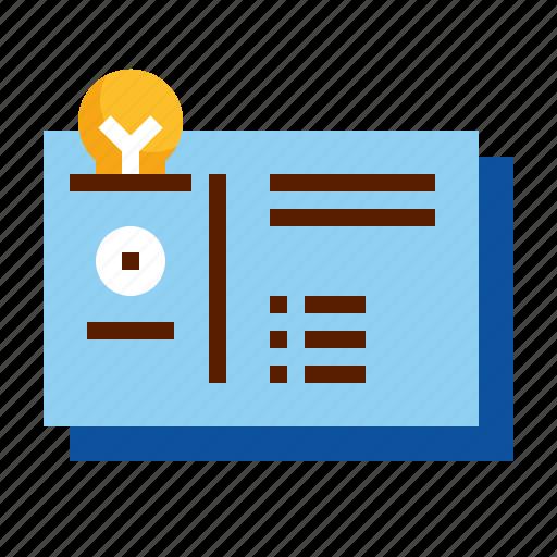 business, card, design, identification, identity icon