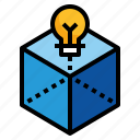 box, cube, design, idea, print icon