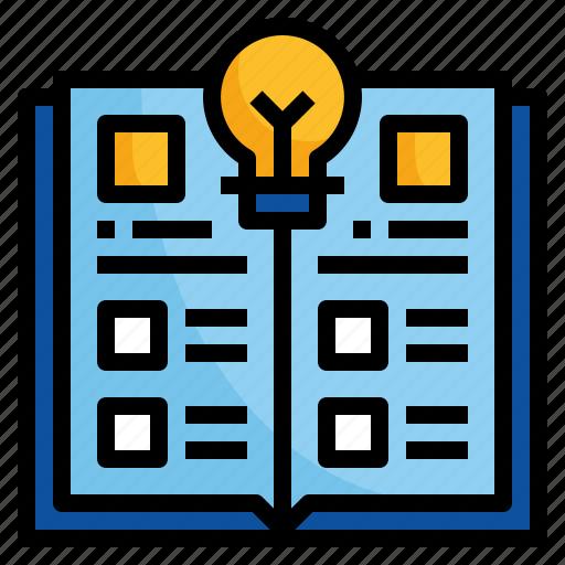 book, catalogue, design, magazine, menu icon
