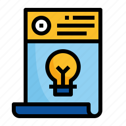 design, document, letterhead, paper icon