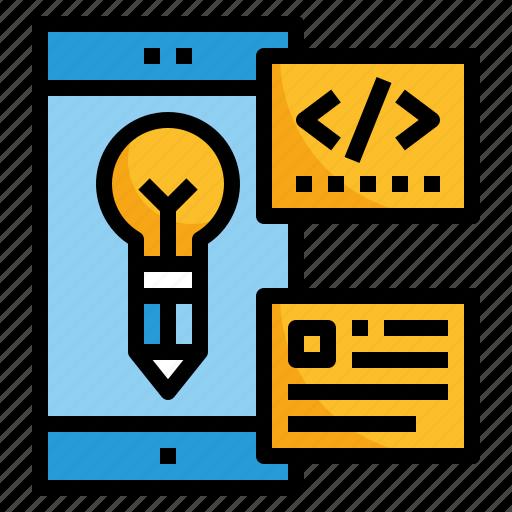 application, design, media, mobile, phone icon