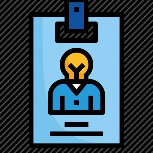 card, design, identification, identity, name icon