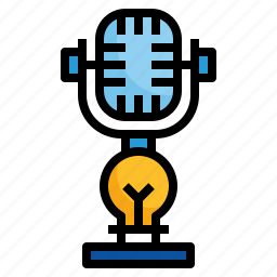 audio, microphone, podcast, record, sound icon
