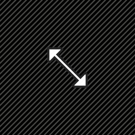 arrows, cursor, diagonal, enlarge, resize, stretch icon