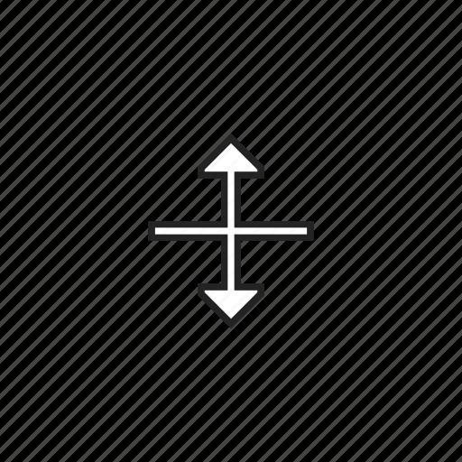 arrows, cursor, enlarge, resize, stretch, vertical icon