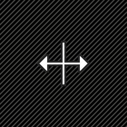 arrows, horizontal, resize icon