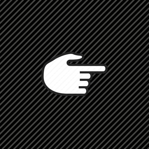 choice, cursor, direction, gesture, hand, pointer icon
