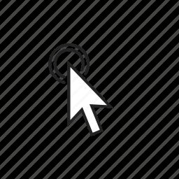 cursor, hold, press icon
