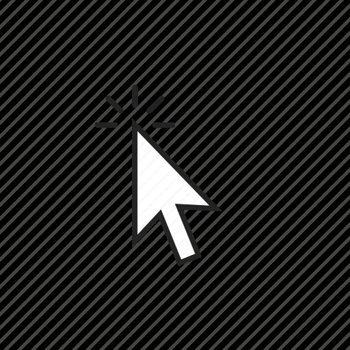 click, cursor, double icon
