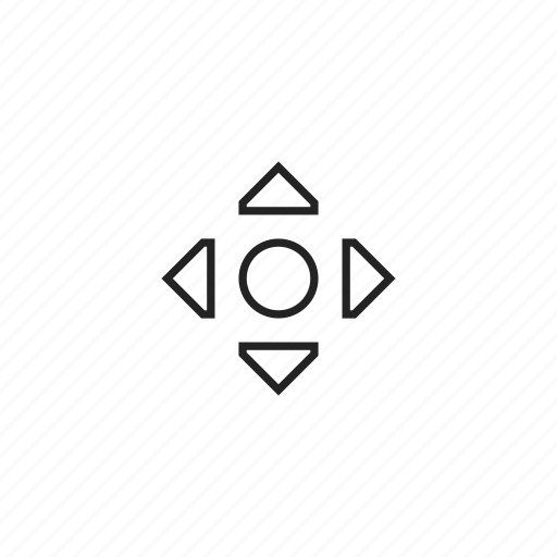 arrows, cursor, scroll icon