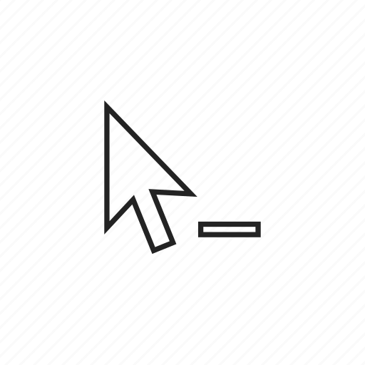arrow, arrowhead, cursor, delete, mouse, pointer icon