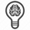 brain, bulb, idea, memory, mind, smart, think icon