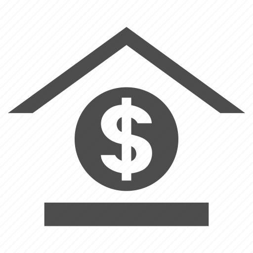 business, dollar bank, finance, financial center, investment, money, payment icon