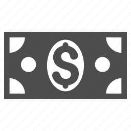 currency, dollar banknote, finance, financial, money, pay, payment icon