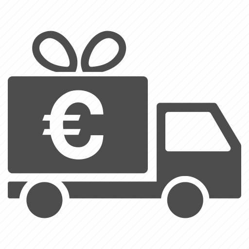 cargo taxi, euro, free service, gift delivery, logistics, shipping, transportation icon