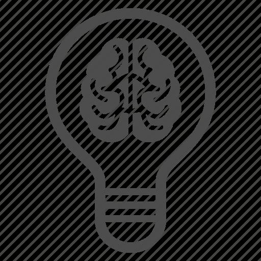 brain, bulb, idea, memory, mind, smart, think icon