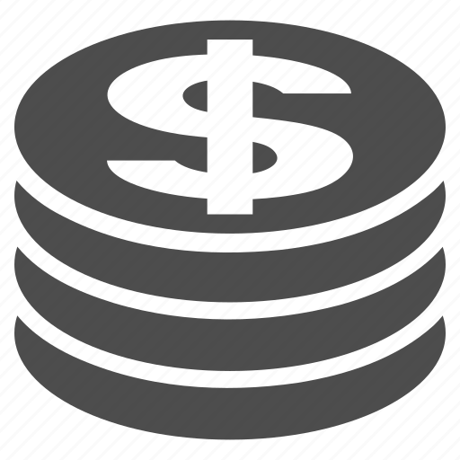 business, cash, coin column, currency, dollar, money, payment icon