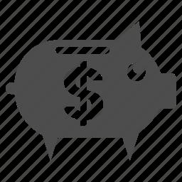 account, banking storage, finance, pig, piggy bank, savings, treasure icon