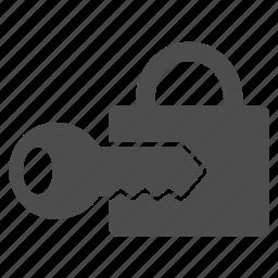 access key, lock, login, password, register, security, unlock icon