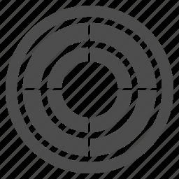 aim, arrow, bullseye, center, goal, point, target icon