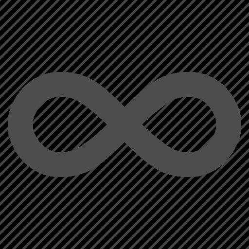 endless, eternity, future, infinite, infinity, loop, ribbon icon