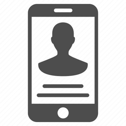 communication, details, man, mobile contact, person, phone, user icon