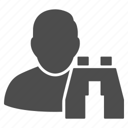 binocular, binoculars, discovery, find user, locate profile, search people, seo tools icon
