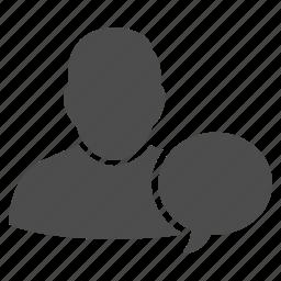 bubble, chat, comment, communication, human speech, message, talk icon