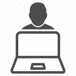 device, display, laptop, mobile, monitor, notebook, user icon