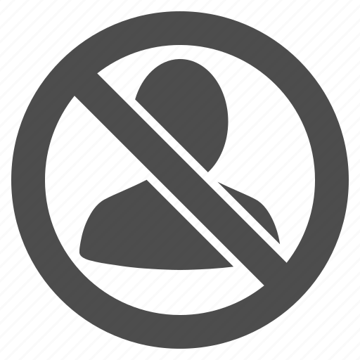 cancel, forbidden, private, restricted, security, stop, user icon