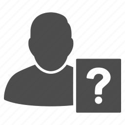 faq, help, info, information, query, question, user status icon