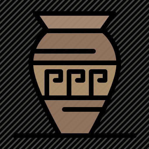 amphora, ancient, emoji, greece, jar icon