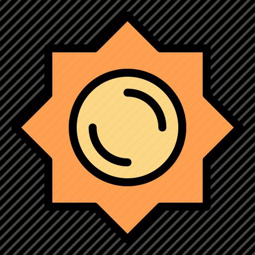 greece, sun, sunshine icon