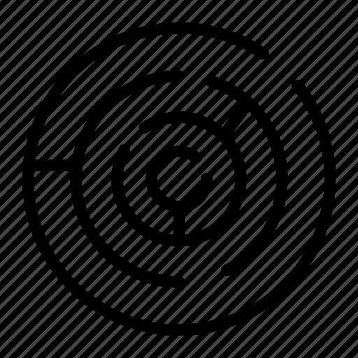 circle, labyrinth, maze icon