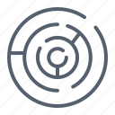 circle, labyrinth, maze icon
