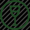 agriculture, dionysos, god, greek mythology, green, wine, wine glass icon
