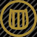 apollo, god, greek mythology, lyre, music, sky, yellow icon