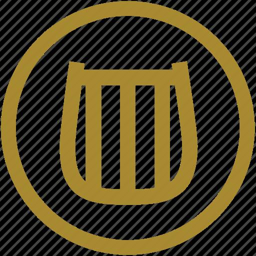Apollo God Greek Mythology Lyre Music Sky Yellow Icon