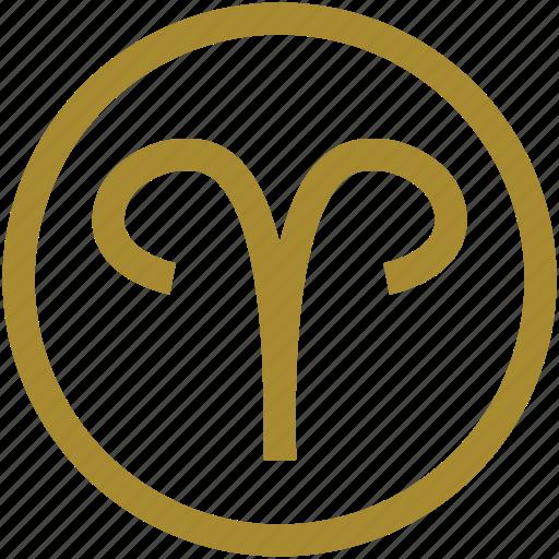 Crius God Greek Mythology New Year Ram Sky Yellow Icon