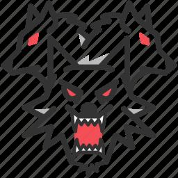 cerberus, dog, greek, kerberos, monster, mythology, wolf icon