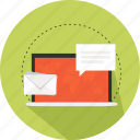 communication, envelope, online marketing, send, sending, working icon