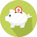 animal, cash box, money box, pig, piggy bank, save money, secure icon