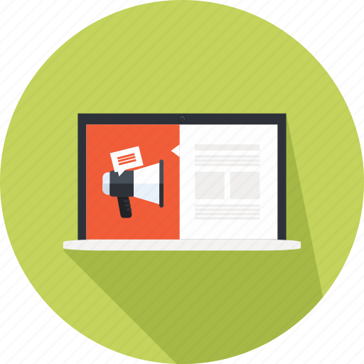 advertisting, freelancer, online, page, web, website icon
