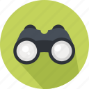binoculars, business, eye, goggles, search, sight, spy icon